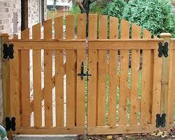 double wood gate designs wooden double gate semi private arched gate by fence double door wood gate design