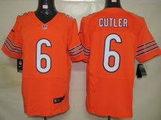 Elite Mens Nfl Alternate Cutler Chicago Jersey Orange Bears Jay 6