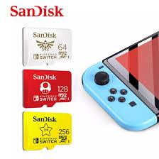 Sản Phẩm Ban Đầu + Miễn Phí + CODThẻ Nhớ SanDisk Micro Sd 128GB Nintendo  Switch Cartao De 64GB 256GB Ủy Quyền Thẻ Nhớ Tf Memoria Cho Thẻ Mở Rộng Trò  Chơi