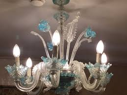hotel concordia murano hand blown glass chandelier