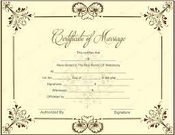 Marriage Certificate Template Word Elegant Wedding Certificate