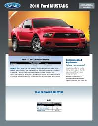 2010 Ford F150 Towing Capacity Chart 2010 Ford Mustang Towing Guide Specifications Capabilities