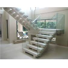 steel and glass modern glass stair railing rs 1380 feet id glass stair railings glass stair
