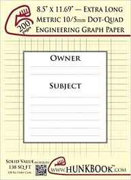Engineering Graph Paper 200pages Cream Metric 10 5mm Dot