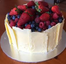 White Chocolate And Berry Birthday Cake Naughty And Nice Kids And