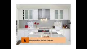 Delighful Modern White Kitchen Cabinets Youtube In Perfect Ideas