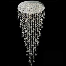 ... Chandelier, Remarkable Modern Foyer Chandelier Foyer Lighting Low  Ceiling Long Crystal Chandeliers With Round White ...