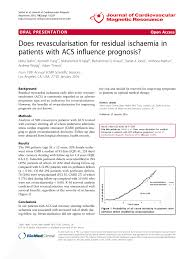 Pdf Does Revascularisation For Residual Ischaemia In Patients With