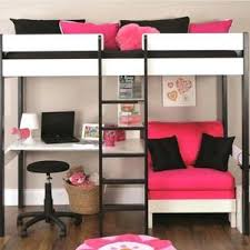 bunk bed with slide and desk. Desk Single Bedroom Pink Cute Loft Beds Top Bed With Futon And Bedrooms Bunk  Space Saver Bunk Bed With Slide And Desk