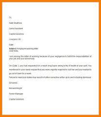 Employee Warning Letters Template 10 11 Employment Warning Letter Template Tablethreeten Com