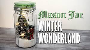 Mason Jar Holiday Decorations DIY Mason Jar Winter Wonderland Snowglobe Scene homemade 51