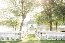 outdoor ceremony at indian trail club in franklin lakes nj