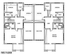 One Bedroom Semi Detached House Plans Www Stkittsvilla Com