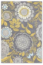 innovative yellow and grey runner rug amy butler transitional hand tufted fl rug amy butler grey