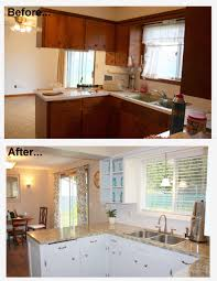 1960s Kitchen Makeover Remodel Before And After Hardwood Flooring
