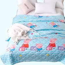 cartoon summer quilt double single bed duvet bule peppa pig kids baby blanket comforters bedspread bed cover quilting interior designer guild
