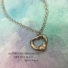 mint authentic tiffany co elsa peretti open heart bracelet rose gold x silver