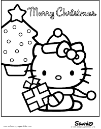 Have fun with this free printable hello kitty coloring page! Hello Kitty Printable Merry Christmas Coloring Page