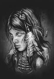 Fotka Indiánské ženy Tetování Illustraion 80289632 Fotobanka