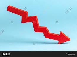 Down Arrow Chart Chart Red Down Arrow Image Photo Free Trial Bigstock