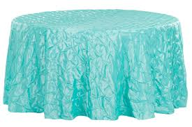 132 pinchwheel round tablecloth turquoise clearance