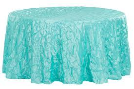 132 pinchwheel round tablecloth turquoise