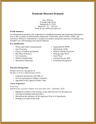 Resume Builder For High School Students With No Work Experience