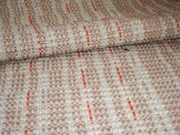 custom made hit and miss wool rug beige tan and burnt orange
