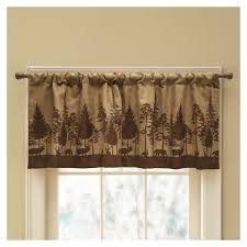 style selections woodland scenic 19 in brown polyester rod pocket valance