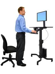 com ergotron 24 280 926 workfit pd sit stand desk with 19 5 inch height adjustment kitchen dining