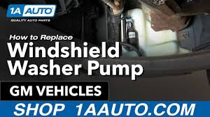 how to install replace windshield washer pump many gm vehicles how to install replace windshield washer pump many gm vehicles 1aauto com