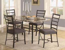 great dining room decoration with five pieces metal dining table with regard to exquisite metal dining