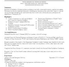 Entry Level Firefighter Resume Firefighter Resume Objective Classy Resume For Entry Level