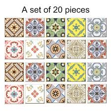 pvc diy mosaic tile stickers arabian retro bathroom waterproof self adhesive wallpaper floor wall sticker for kitchen wall decal adhesive wall decal art