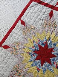 127 best vintage flour and feed sack quilts images on Pinterest ... & Prairie Star Quilt Pieced Flour Sack Cotton Fabrics Hand Quilted Vintage  Quilt with Provenance on Etsy Adamdwight.com