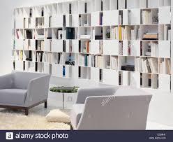 contemporary library furniture. Wall Bookcase Home Library Contemporary Interior Design Furniture L
