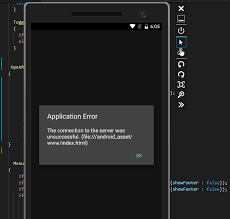 Application error : The connection to the server was unsuccessful ...