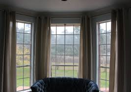 full size of decor how to hang curtains in bay window pleasant how to hang