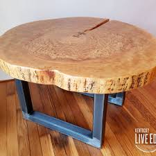 fullsize of contemporary round coffee table live edge industrial tree slice log round coffee table live