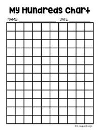 Blank 100 Square Chart 18 Described Blank 100 Chart Kindergarten