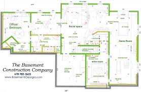 Basement Layout Design Set Best Inspiration Design