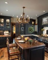 custom black kitchen cabinets.  Custom Black Distressed Cabinets A Few Lightened With Custom Leaded Glass Panels  Provide Gorgeous Backdrop For This Traditional Kitchen And Custom Kitchen Cabinets N