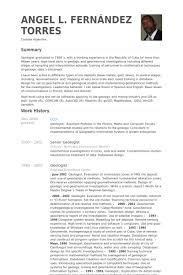 Geologist Resume Samples Visualcv Resume Samples Database