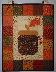342 best Autumn Quilts images on Pinterest | Quilt patterns, Fall ... & Nice acorn quilt hanging Adamdwight.com