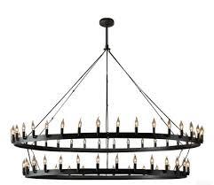 rh camino vintage candelabra 2 tier chandelier an industrial lighting design on dezignlover com