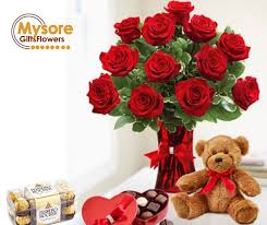 send flowers cakes chocolates gifts to mysore