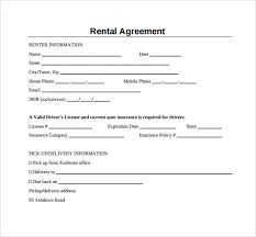 Simple Rental Agreement Template 29 Images Of Simple Lease Agreement Template Leseriail Com