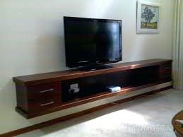 diy floating tv stand floating shelves under like the style of the over hang of the