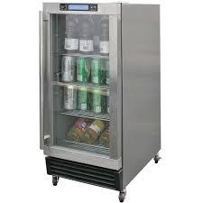built in outdoor refrigerator in stainless steel