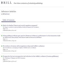 Journal Article Publishing In A Brill Journal